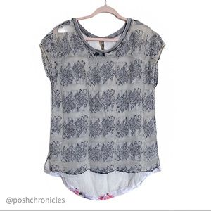Aratta Silent Journey Lace Lined - Anthro Top SZ S